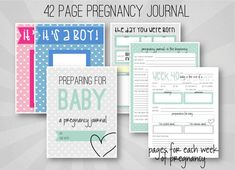 Pregnancy Journal - Weekly Pregnancy Log - Printable - INSTANT DOWNLOAD