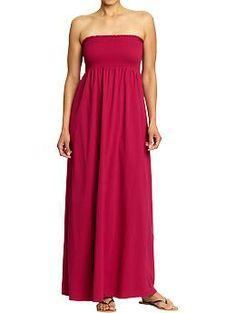 Women's Smocked Maxi Tube Dress (Spring Azalea). Old Navy. $32.94