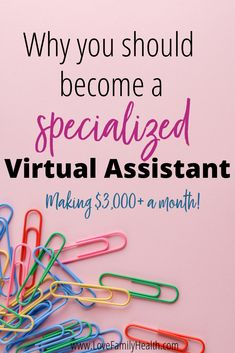 Why you should become a specialized Virtual Assistant! Work From Home Jobs, Make Money From Home, Way To Make Money, Business Tips, Online Business, Business Coaching, Administrative Assistant, Virtual Assistant Services, Thing 1
