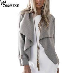 e8d20e7d46 Autumn Winter Women Wide Lapel Outwear Warm Coats Women European Style  Short Ladies Parka Overcoats For Lady