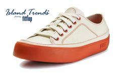 9a4deea7d349 FitFlop Super T Sneaker Canvas Shoes - Urban White