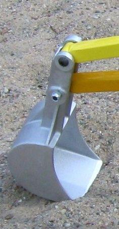 Digger Plans-Replacement sand digger aluminum bucket.