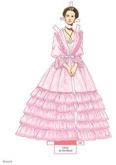 SAMPLES From: Award-Winning Fashions of Edith Head Paper Dolls  Dover Publications OLIVIA DE HAVILAND 4 of 6