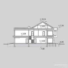 Проект дома LK&1206 двухэтажного Two Storey House, Home Projects, Building A House, House Plans, Floor Plans, How To Plan, Modern, Diagram, Projects
