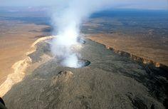 Vulcão Erta Ale. 'Deserto de Danakil'. # Etiópia.