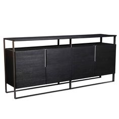 Eurostyle Euro Style Ramona Sideboard In Oak/black Black Sideboard, Sideboard Buffet, Modern Sideboard, Bar Furniture, Furniture Deals, Big Pillows, Beautiful Dining Rooms, Dining Room Bar, Best Dining