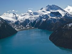 Garabaldi Lake IV by Keith Walker. http://www.artevolution.com/garabaldi-lake-iv-keith-walker-4.html  View our entire collection of stunning #aerial #photography, perfect for your home or office. http://www.artevolution.com/shop/aerial.html #mountains #scenic #landscape #lake