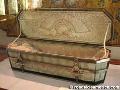 The whole story begins with the death of King Hamlet. The coffin illustrates the death of King Hamlet.