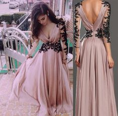Deep V Neck Dusty Pink Prom Dresses,Formal Dresses, Evening Dresses,Dresses for Prom, M9