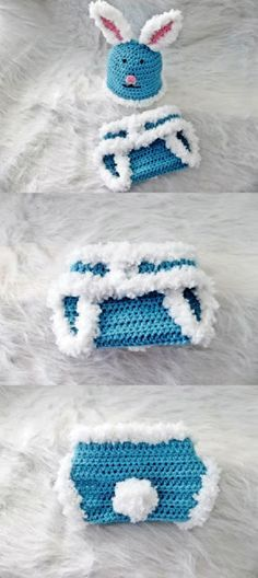 Creating Beautiful Things in Life: Cottontail Bunny, Easter Beanie and Diaper Cover  Free Pattern