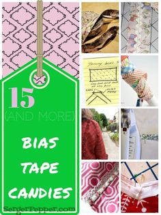Let's talk about bias again! I'm collecting here 15 of the most interesting bias tape related resources I've found around the web.  Would you like to help me find more?  As