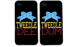 me and @Slexa Apienza  Bff Case / Tweedle DEE Tweedle DUM iPhone 4 Case by KasiaKases, $22.99