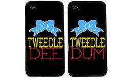 me and @Slexa Apienza Bff Case / Tweedle DEE Tweedle DUM iPhone 4 Case by KasiaKases, $22.99