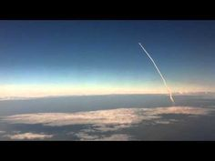 Space Shuttle Discovery's final launch as it embarks on STS-133 as viewed from flight leaving Orland to NYC on my way home from @HIMSS11