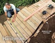 A Wooden Walkway Makes An Attractive And Inexpensive Garden Path, Is  Simpler And Less Backbreaking