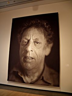 This is honestly amazing. The photograph that you see here is actually comprised of woven pieces of some kind of yarn. This is pretty much a tapestry that until extremely close inspection, appears to be a large black and white photograph on normal photography media. The quality maintained is that good. Phoenix Art Museum, Philip Glass, Chuck Close, Large Black, Black And White, Paul Gauguin, Revolution, Tapestry, Amazing