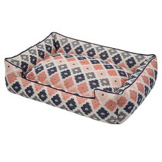 Jax and Bones Geo Premium Cotton Blend Lounge Bed for dogs