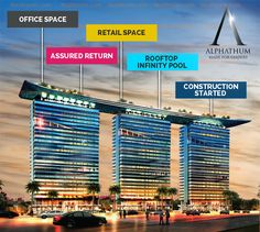 Alphathum, in terms of infrastructure has the world's largest infinity rooftop swimming pool and will certainly bring gatherings who wish to enjoy the better working life.