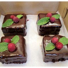 Chocolate Cake and Chocolate Cheesecake Layered Squares