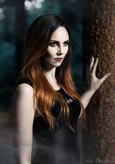 Vampire portrait. Makeup by Elizabeth Andrea Model Heidi