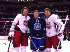 Flyers Scott Hartnell, Kimmo Timonen, and Claude Giroux... 2012 NHL All-Stars
