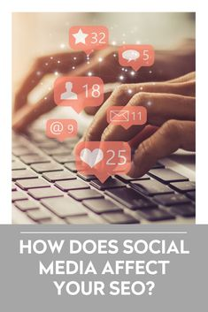 Ever wondered if your social media affects your SEO? We've done some digging for ya! Online Marketing, Digital Marketing, Website Services, Social Media Site, When Someone, Helping People, Seo