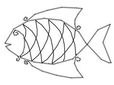 wire fish 3d 3d board wire 3d and fish diagram for scales on wire fish art
