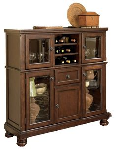 Porter Server with Storage Cabinet by Ashley Furniture