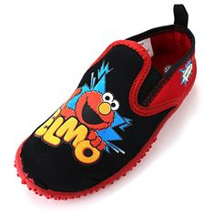 Elmo Boys Red Aqua Socks Water Shoes #SesameStreet #Yankeetoybox #FunStartsHere #EverythingCharacter www.yankeetoybox.com  Toddler