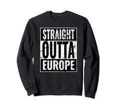 Straight Outta New York Nyc Great Travel Outfit & Gift Idea Sweatshirt Great Graduation Gifts, Military Gifts, Army Veteran, Funny Sweatshirts, Squad Goals, Boyfriend T Shirt, Christmas Shopping, Types Of Shirts, Pitbulls