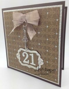 Great Way To Use My Frame Embellishment On A Special Birthday Or Anniversary Card 21st Invitations21st
