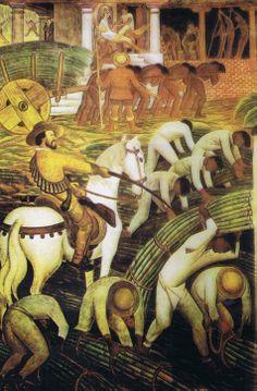 """""""Plantación de azúcar en Morelos"""", de Diego Rivera (1930)"""