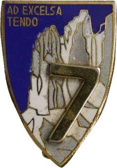 Vecio.it - La storia degli Alpini nel web - 7° Reggimento Alpini Italian Army, Reggio, Badges, Logo, Military Insignia, Climbing, Logos, Name Badges, Logo Type