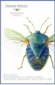 2008 Show Poster - insect, poster, art show poster, bug, beetle by Dinah Wells
