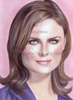 Our Art Corner - Emily Deschanel Portrait (by xMarie Dx)