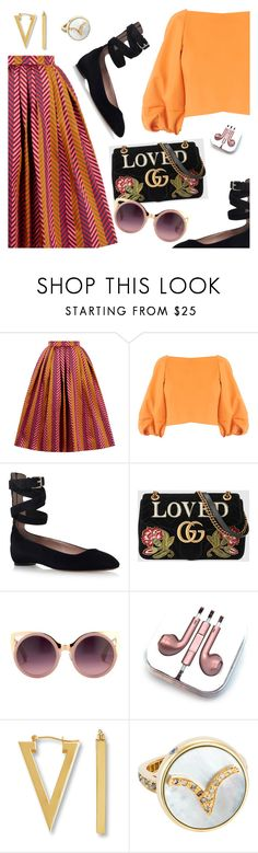 """""""Outfit of the Day"""" by dressedbyrose ❤ liked on Polyvore featuring House of Holland, TIBI, Valentino, Gucci, Erdem, PhunkeeTree, ootd and polyvoreeditorial"""