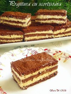 Cake with cinnamon ~ Culorile din farfurie Romanian Desserts, Romanian Food, I Foods, Eat Cake, Cinnamon, Sweet Treats, Food And Drink, Cooking Recipes, Sweets
