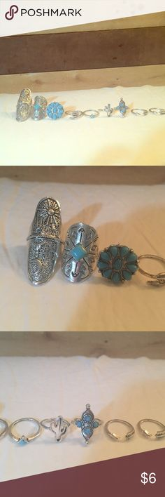 Bohemian Rings- Size 5.5-6 Bohemian Rings! Size 5.5-6! An adorable set of 9 rings some are smaller and some are a tad bigger, for midi rings! Super cute!! Brand new! Jewelry Rings