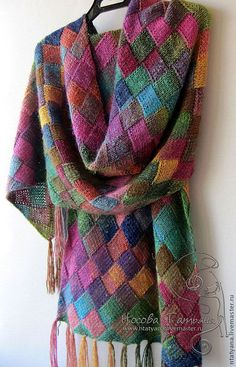 Yarn Silk Garden by Noro; Knitting Stitches, Knitting Patterns Free, Knit Patterns, Free Knitting, Free Pattern, Knitting Squares, Knit Or Crochet, Crochet Shawl, Knitted Shawls