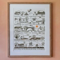 Over The Hills and Far Away In Shropshire Art Print