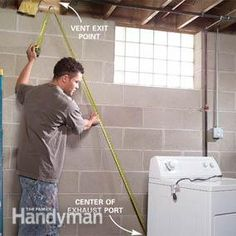 Looking to upgrade or install a new dryer vent? This guide from our experts will take you through the path of mapping out and installing a dryer vent. Dryer Exhaust Vent, Gas Dryer, Dryer Vent Installation, Roof Vent Cap, Rehab House, Basement Renovations, Green Cleaning, Home Repair, Laundry Rooms