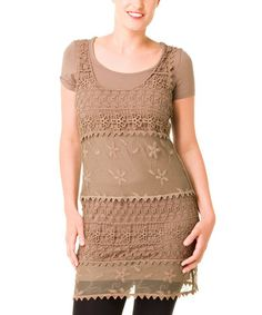 Take a look at this Bronze Ilayra Tunic - Women & Plus by Yest on #zulily today!
