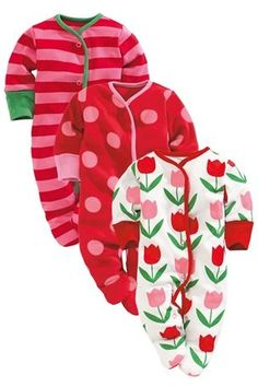 mth Buy Tulip Sleepsuits Three Pack from the Next UK online shop My Baby Girl, Baby Love, Kids Girls, Baby Kids, Girls Pjs, Latest Fashion For Women, Kids Fashion, Cute Baby Clothes, Babies Clothes