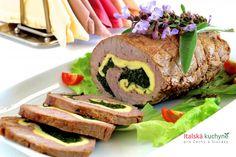 Jak nakrájet maso na roládu - Italská kuchyně Sushi, Sandwiches, Ethnic Recipes, Food, Red Peppers, Essen, Meals, Paninis, Yemek