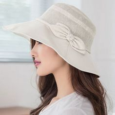 Floral straw hat with bow decoration UV sweet ladies sun hats ... 30ed931b9d57