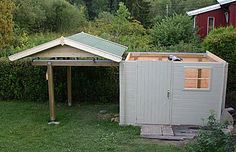 Carsten Arnholm roll-off-roof observatory, adapted from garden shed kit