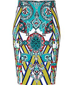 ETRO Mixed Print Pencil Skirt