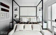 Black and White - Luis Bustamante Room Interior Design, Luxury Interior, Interior Architecture, Furniture Inspiration, Interior Design Inspiration, Room Inspiration, Modern Bedroom, Bedroom Decor, Guest Bedrooms