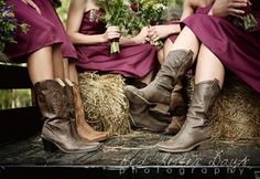 Bridesmaids and Boots... Perfect country wedding.
