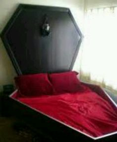 Coffin bed - not sure I would be ok sleeping here...maybe the guest room?